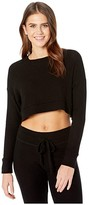 Beyond Yoga In Line Super Cropped Pullover (Black) Women's Clothing