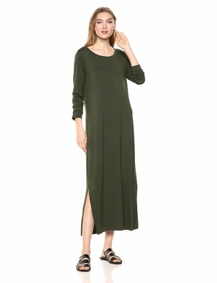 Daily Ritual Jersey Long-Sleeve Maxi Dress Casual