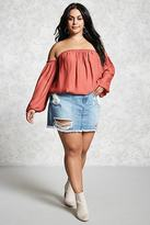 Forever 21 FOREVER 21+ Plus Size Chiffon Crop Top