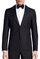 Emporio Armani Single-Breasted Virgin Wool Tuxedo Jacket