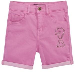 GUESS Big Girls Embellished Bull Denim Shorts