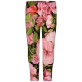 Dolce & Gabbana Dolce & GabbanaGirls Black & Pink Roses Leggings