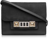 Proenza Schouler PS11 Black Leather and Nubuck Wallet w/Shoulder Strap