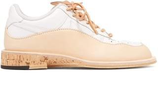 Peterson Stoop - Wavey Cork Recycled Leather Trainers - Womens - Tan White