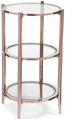 Caracole You Make Me Blush, Round Rose Gold 3-Tiered Side Table