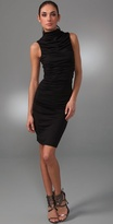 Ruched Turtleneck Dress