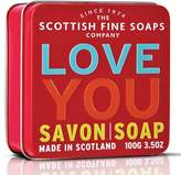 Scottish Fine Soaps Love You Soap Tin by 100g Bar)