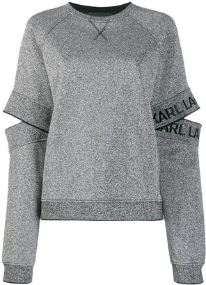 Karl Lagerfeld Paris cut-out sleeve sweatshirt