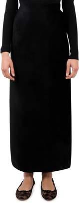 Alaia Black Velour Skirt