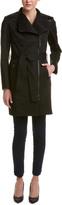 Mackage Estelle Leather-Trim Trench Coat