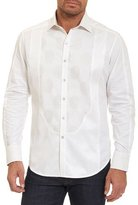 Robert Graham Limited Edition Tuxedo Days Tonal-Embroidered Shirt, Off White