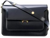 Marni Trunk shoulder bag navy blue - women - Calf Leather - One Size