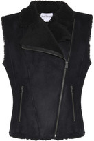 Velvet by Graham & Spencer Paneled Faux Fur-Lined Faux Suede Gilet
