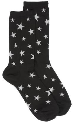 Hot Sox Glow In The Dark Star Crew Socks