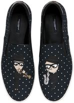 Dolce & Gabbana Designers Canvas Slip-On Sneakers