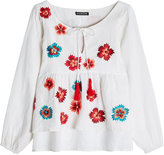 Kas Embroidered Linen Blouse