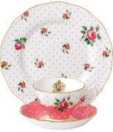 Royal Albert Cheeky Pink Teacup, Saucer, Plate