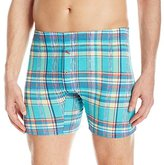 Tommy Bahama Men's Lagoon Multi Plaid Knit Boxer Brief