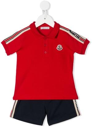 Moncler Enfant Polo Shirt Two-Piece Set