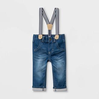 Cat & Jack Baby Boys' Suspender Denim Jeans - Cat & JackTM Medium Wash