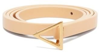 Bottega Veneta Triangle-buckle Leather Belt - Beige Gold
