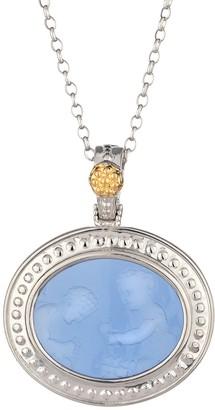 Tagliamonte Sterling / 18K Venetian Cherub Cameo Pendant w/Chain