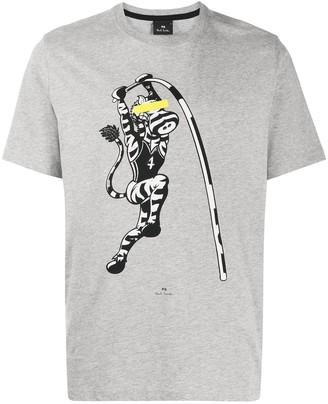Paul Smith zebra-print organic cotton T-shirt