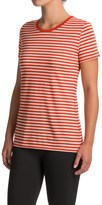 Icebreaker Tech Lite Stripe Shirt - Merino Wool, Short Sleeve (For Women)