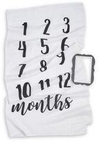 Mud Pie Monthly Milestone Blanket in White