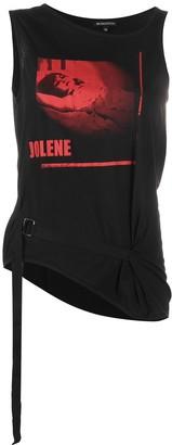 Ann Demeulemeester Jolene-print belted tank top
