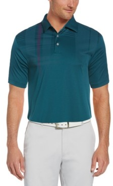Pga Tour Men's Oversized Plaid Polo Shirt
