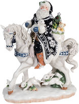 Fitz & Floyd Bristol Holiday Santa On A Horse Figurine