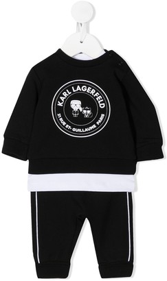 Karl Lagerfeld Paris Three-Piece Tracksuit Set