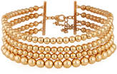 Lydell NYC Multi-Row Golden Ball Choker Necklace