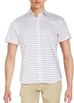 Saks Fifth Avenue Regular-Fit Textured Stripe Sporshirt