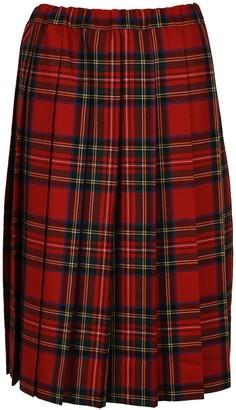 COMME DES GARÇONS GIRL Tartan Pleated Skirt