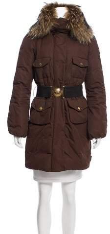 Moncler Melbourne Fur-Trimmed Coat