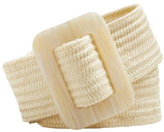 Seed Heritage Buckle Waist Belt Cream