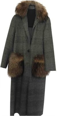 Max Mara Weekend Grey Wool Coat for Women