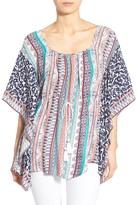 Ella Moss Oceana Print Flutter Sleeve Tunic