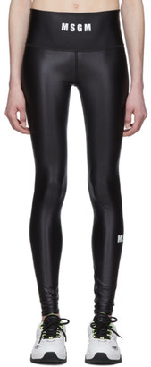 MSGM Black Logo Leggings