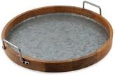 Thirstystone Round Galvanized Wood Tray