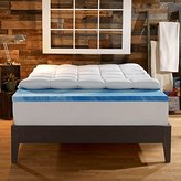 Sleep Innovations 4-Inch Dual Layer Mattress Topper - Gel Memory Foam and Plush Fiber. 10-year limited warranty. Cal King Size