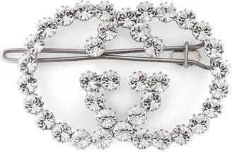 Gucci Crystal Interlocking G hair clip