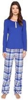 Jockey PJ Set with Flannel Plaid Pants