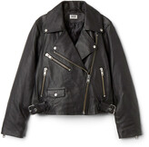 Weekday Jemina Leather Jacket - Black
