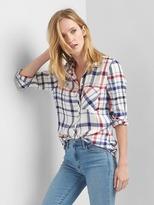 Plaid drapey shirt