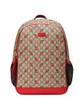 Gucci Classic GG Supreme Ladybug Backpack Diaper Bag, Beige