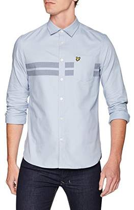 Lyle & Scott Men's Chest Stripe Shirt Casual (Stonewash Blue Z362), Medium (Size:M)