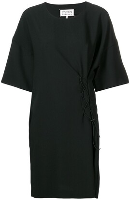 Maison Margiela short-sleeve drawstring dress